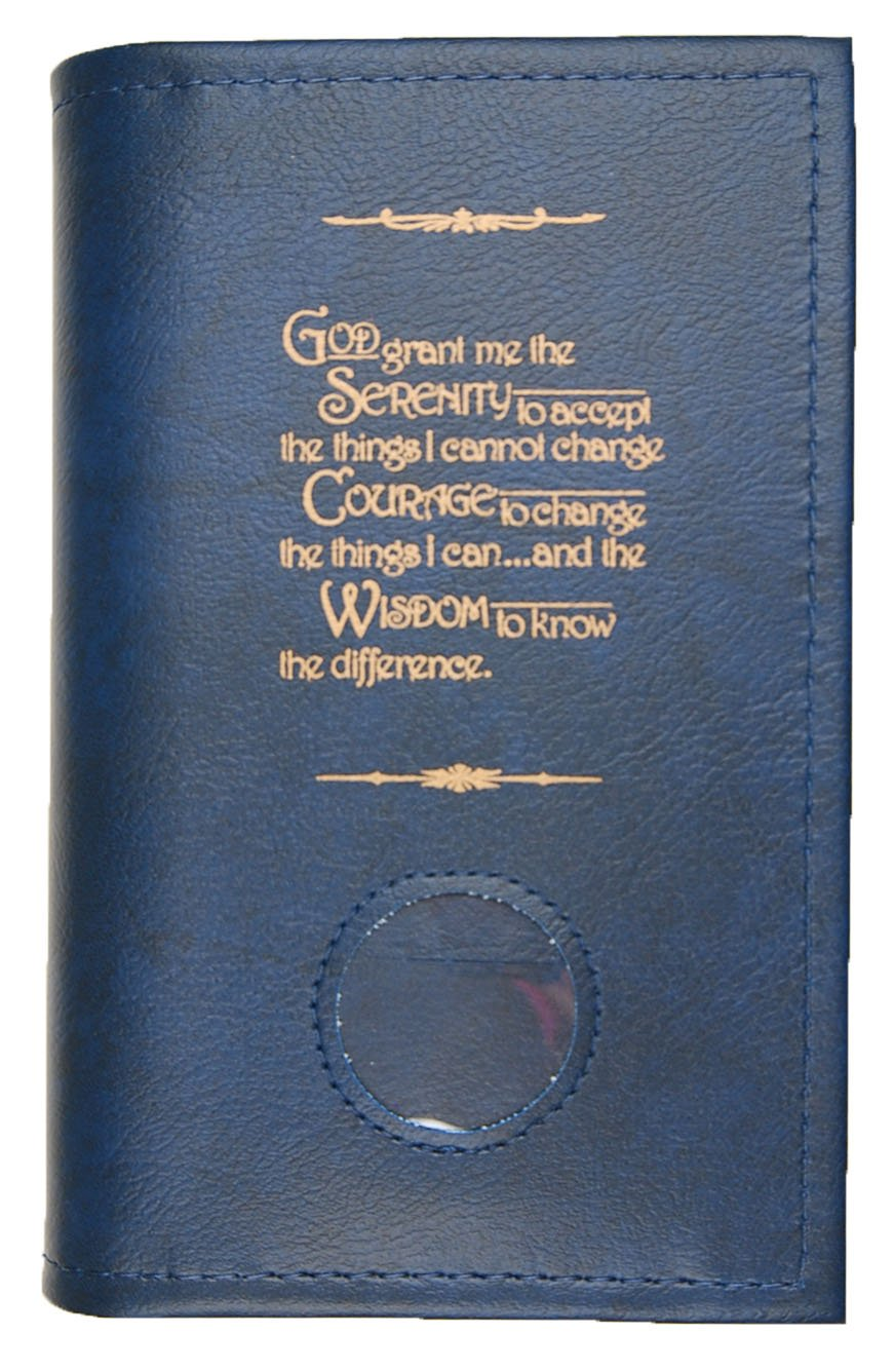 Alcoholics匿名AAソフトペーパーバックBig BookカバーSerenity Prayer &メダリオンホルダーブルー   B0046R5DPK