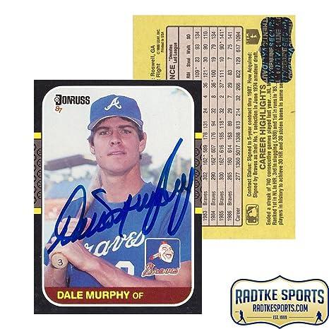 Dale Murphy Autographedsigned 1986 Donruss Pc 10 Atlanta Braves