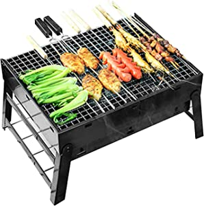 BBQ Charcoal Grill, Folding Portable Lightweight Barbecue Grill Tools for Outdoor Grilling Cooking Camping Hiking Picnics Party