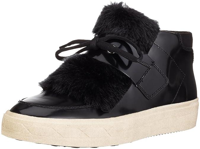 Womens 25058 Hi-Top Sneakers, Black, 3 UK Tamaris
