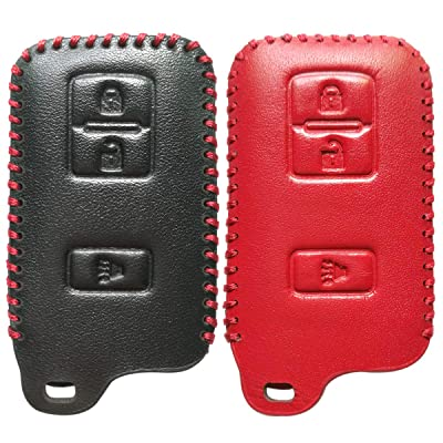 2Pcs Coolbestda 3Buttons Key Fob Remote Glove Accessories Cover Protector for 2020 2020 2016 Toyota Tacoma Land Cruise Prius V RAV4 HYQ14FBA: Automotive