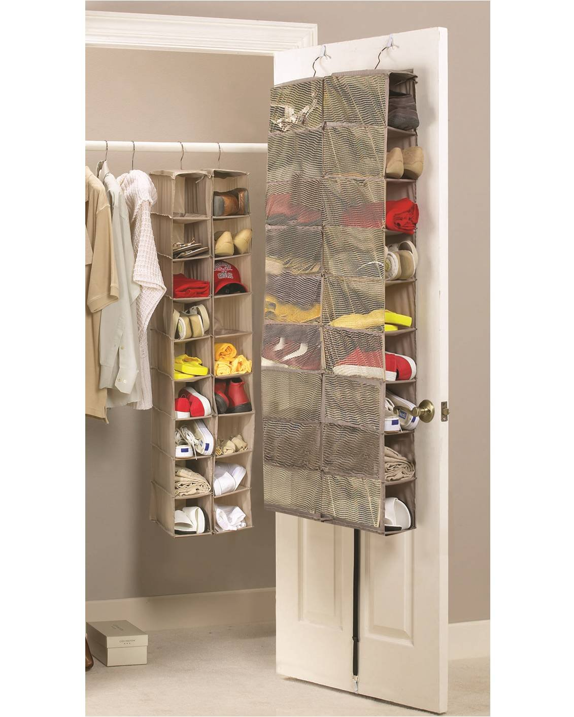 over closet the organizer rack hanging door doors walmart oxgord stand with com ip pairs storage for shoe wall