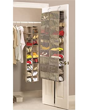 Large Heavy Duty 18 Pocket Hanging Shoe Organiser For The Wardrobe