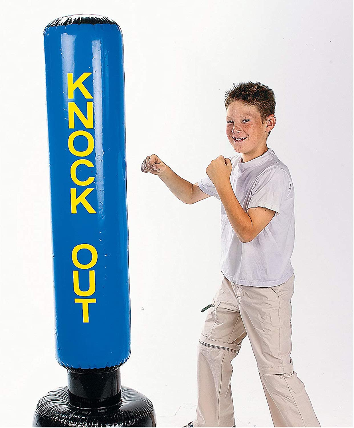 Inflatable Punching Bag (5 feet Tall) Fun Novelty Toy for Active Kids