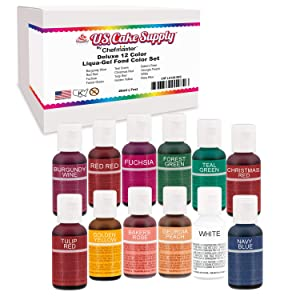 12 Color Cake Food Coloring Liqua-Gel Decorating Baking Set KIT #2 Secondary Colors – U.S. Cake Supply 0.75 fl. oz. (20ml) Bottles - Made in the U.S.A.