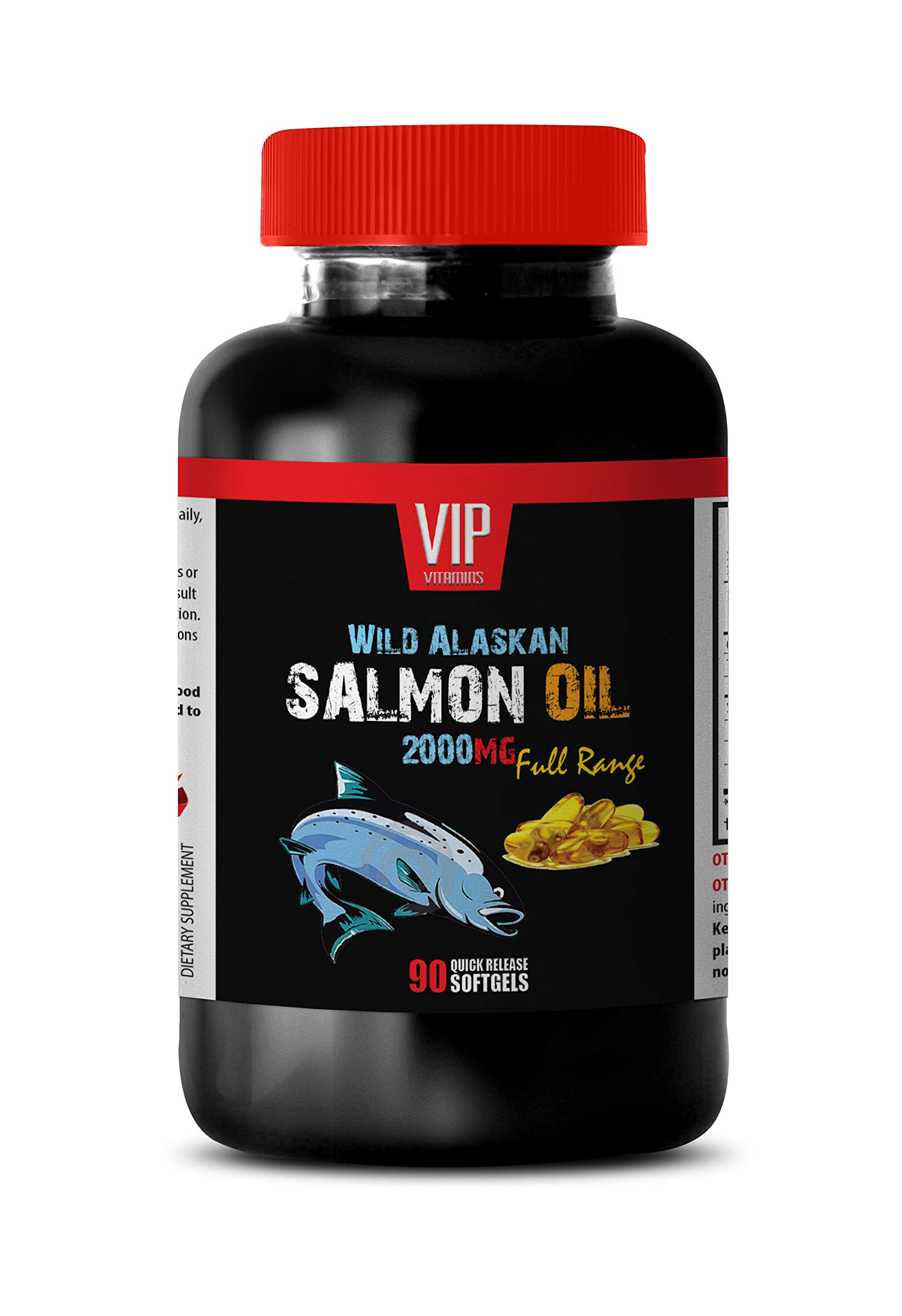 Brain Booster and Memory Enhancer - Wild Alaskan Salmon Oil 2000 - Wild Alaskan Salmon Oil softgels - 1 Bottle 90 Softgels by VIP VITAMINS