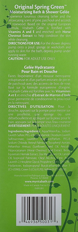 VITABATH GREEN - BATH & SHOWERGELEE 32 OZ