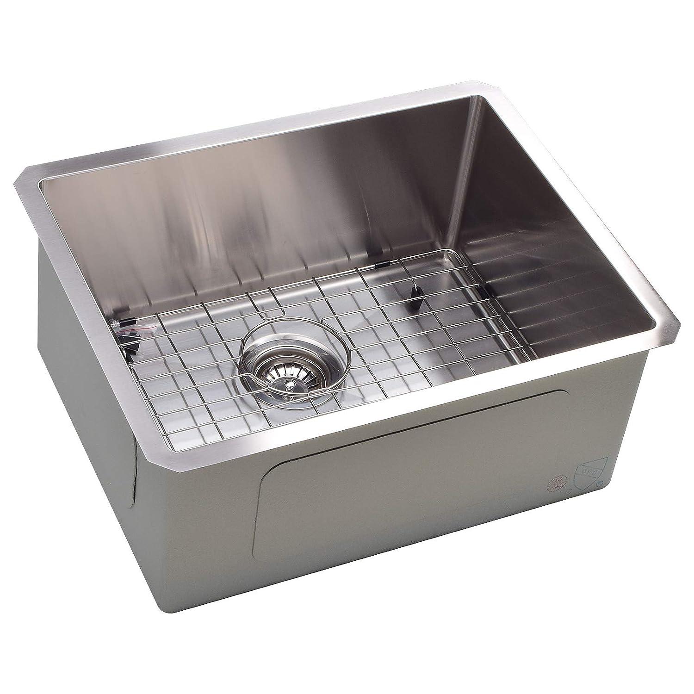 Koozzo undermount Kitchen Sink, 23 Rectangular Single Bowl, Stainless Steel,16 Gauge