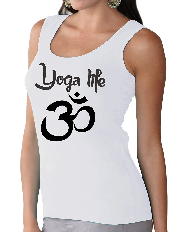 Tshirt Rocket Yoga Life Om Symbol Ladies Fitness Tank Top ...