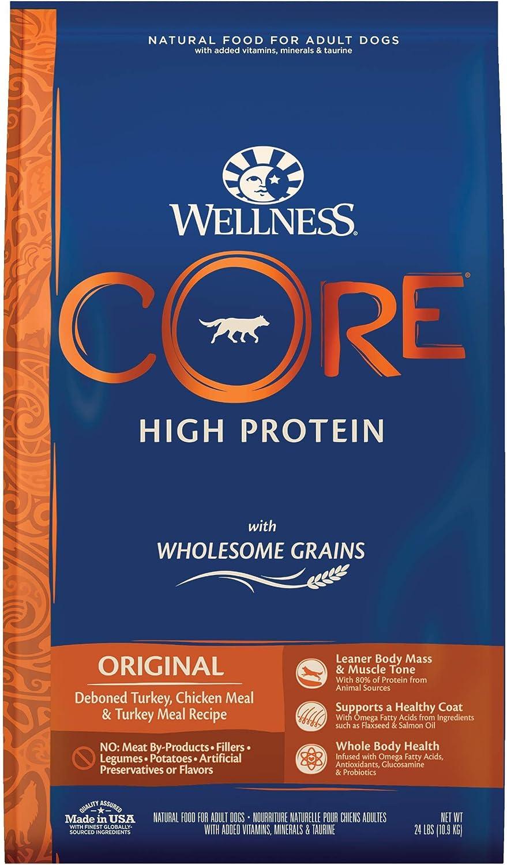 Wellness CORE Wholesome Grains Adult Dry Dog Food, Turkey & Oatmeal