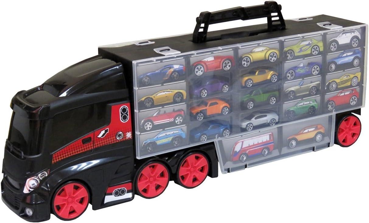 Teamsterz 1416585 Camión Portacoches con 6 Coches