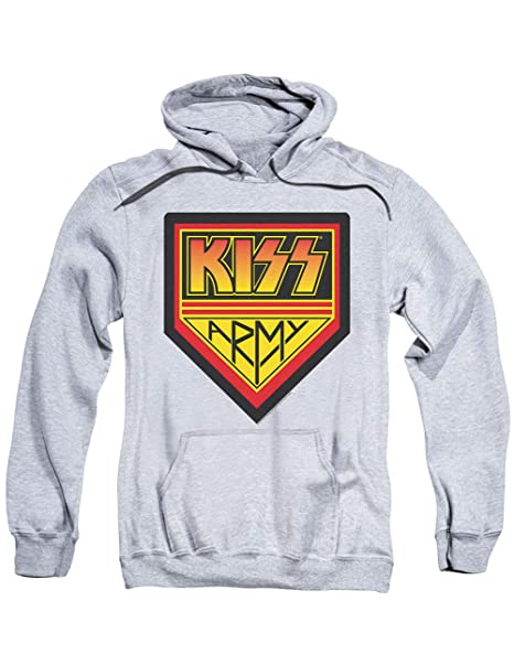 Officially Licensed KISS Army Rock and Roll Hooded Sweatshirt
