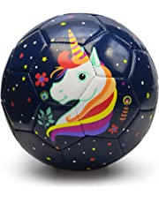 Kids Soccer Ball, PP Picador Cute Cartoon Soft Recreational Ball Toy Gift with Pump Kits for Toddlers, Kids, Boys, Girls, Children, Training, Kindergarten