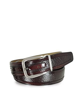 Moreschi Men's H9030175100004 Burgundy Leather Belt: Amazon