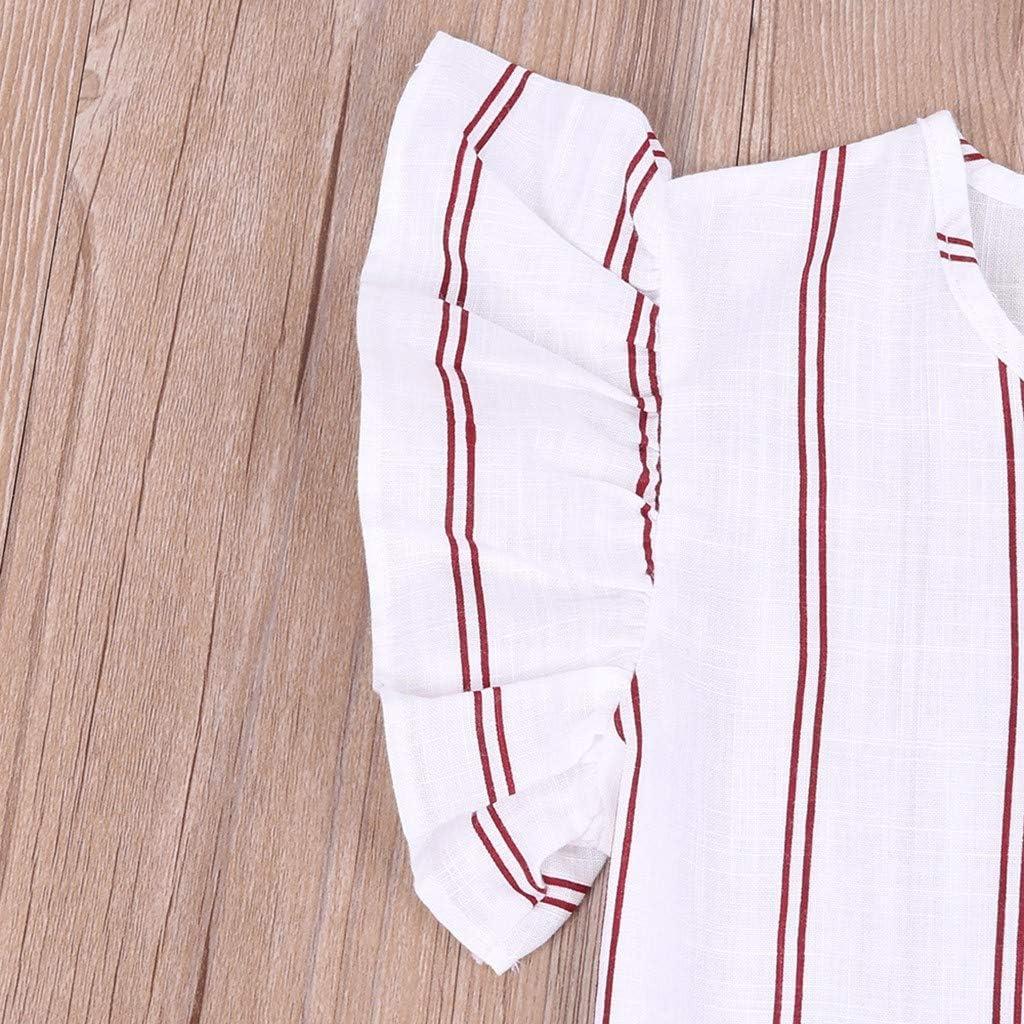 Shorts Pantalon Ensemble 0 1 2 3 4 5 6 7 9 Ans Les magasins Ont KEERADS KIDS /ét/é Printemps 2pcs Bambin Enfants b/éb/é Filles Tenue v/êtements Rayures t-Shirt Tops