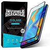 Ringke Invisible Defender Full Coverage Vidrio Templado Compatible con Huawei P30 Lite, Nova 4e [Bordes Curvos 2.5D] Protecto