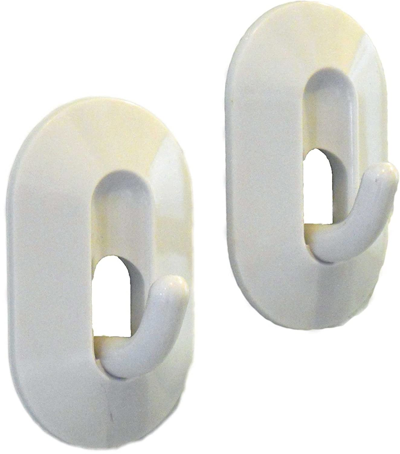 Magnetic Hooks Holder 2 Pack Kitchen Towel Pot Holder Refrigerator Hook White