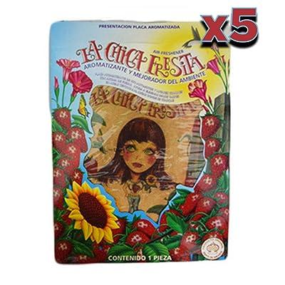 Parts Direct cf-5 5X The Original La Chica Fresita Automotive Air Freshener, Strawberry, 5 Piece: Automotive
