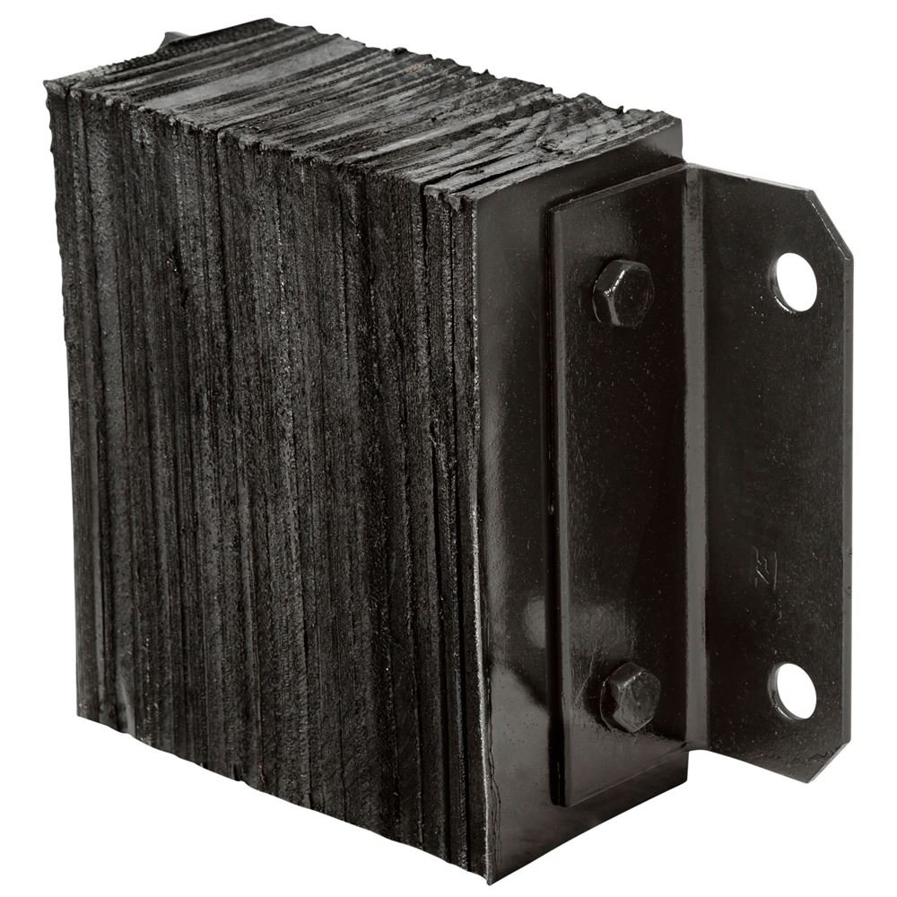 Guardian Dock Bumper 14'' W x 10'' H x 4 1/2 D Horizontal Laminated Rubber by Guardian Industrial Products (Image #1)