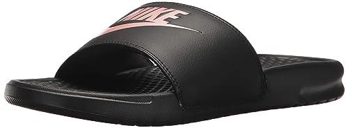 new style 721ee 7cdee Nike Wmns Benassi JDI, Scarpe da Fitness Donna, Multicolore (Black/Rose Gold