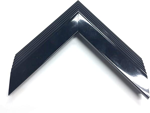 New All Sizes Picture Frame Frame Black Lacquer Modern Vintage Como 2,0