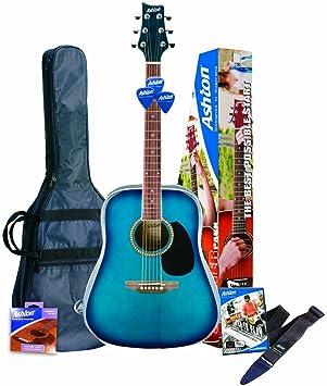 Ashton D25TBB Guitarra acústica, color Azul (Blue Finish): Amazon ...