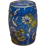 Amazon Com 18 Quot H Oriental Porcelain Garden Stool With Blue