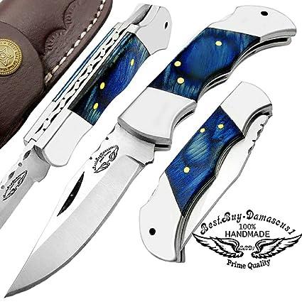 Amazon.com: Madera Custom hecho a mano doble Bloster Acero ...
