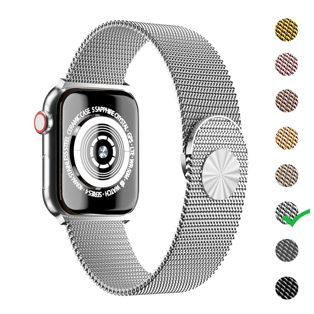 Cocos Compatible with Apple Watch Band 38mm 40mm 42mm 44mm,Stainless Steel Mesh Loop Replacement Parts for iWatch Band Series 4 3 2 1 by Cocos