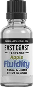 East Coast Terpenes - Apple Fluidity Herbal Extract Diluent Liquidizer for Concentrates, Waxes, and Oils - Pure Organic Solution - Eliminate Use of PG, VG, Veg (2 oz)
