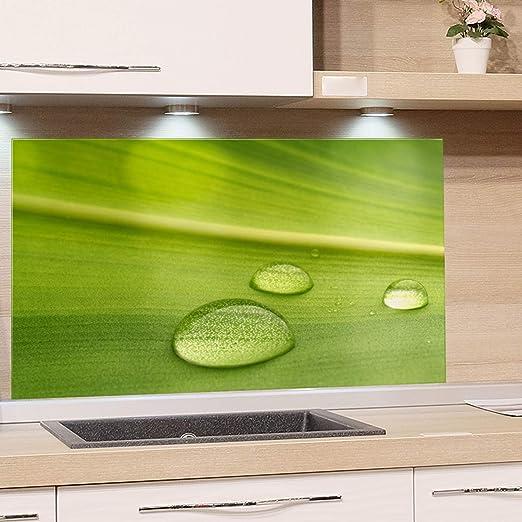 Grazdesign Kuchenruckwand Glas Grun Spritzschutz Kuche Herd Glasruckwand Als Glasbild 60x40cm Amazon De Kuche Haushalt