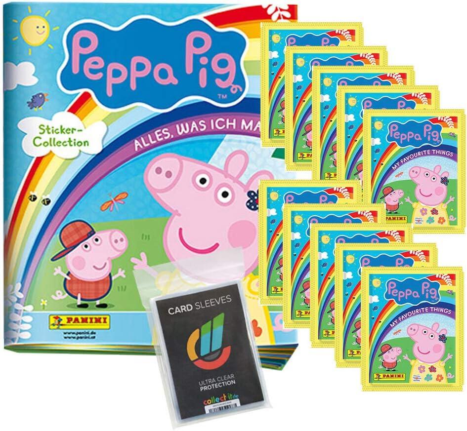 1 Album Collect-it Sleeves CAGO Panini Peppa Pig Wutz Alles was ich mag 10 T/üten Sammelsticker