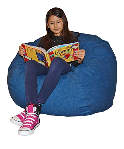Ahh! Products Blue Denim Washable Large Bean Bag Chair