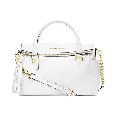 a1addacf796d Amazon.com: Michael Kors Handbag, Weston Medium Satchel (Optic White ...
