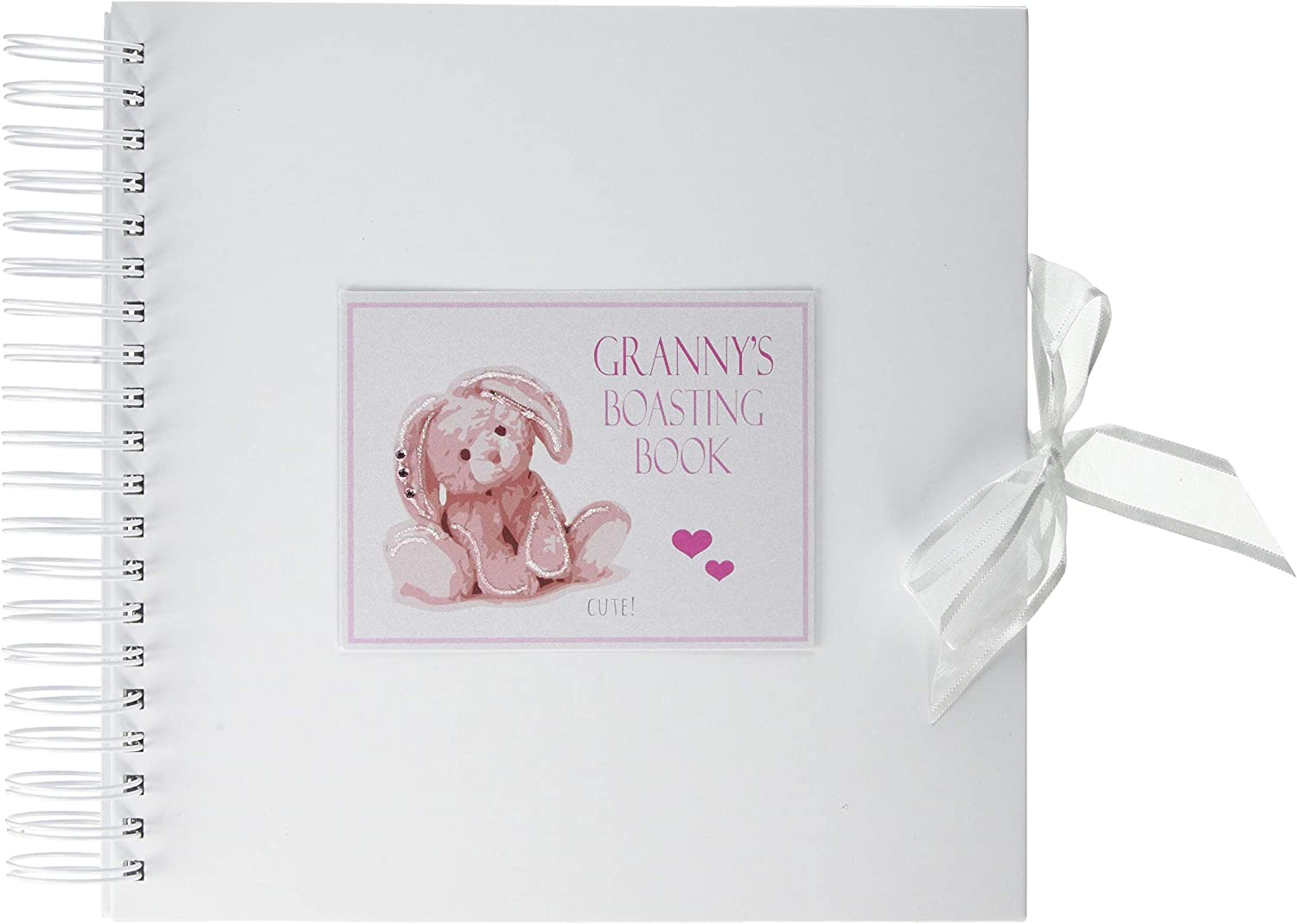of White Cotton Cards Pink /'Grannys Boasting Book/' Memory Book NRP1C
