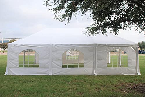 DELTA Canopies 30 x20 PE Frame Tent – Wedding Party Canopy Shelter – White