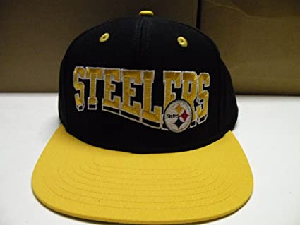 Amazon.com   NFL Pittsburgh Steelers Wave Black 2 Tone Retro ... 42cbc3b6d5f