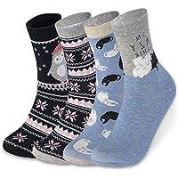VBIGER Chaussette Femme Tricotage Coton Confortables Chaud en hiver 4 Paires
