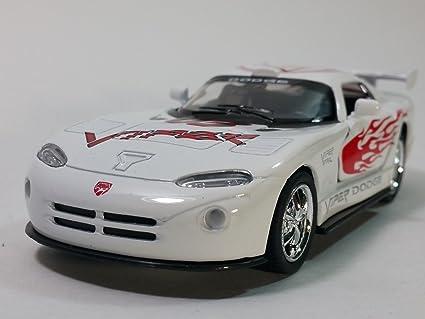 Amazon.com: Kinsmart blanco Dodge Viper GTR-S coche de ...