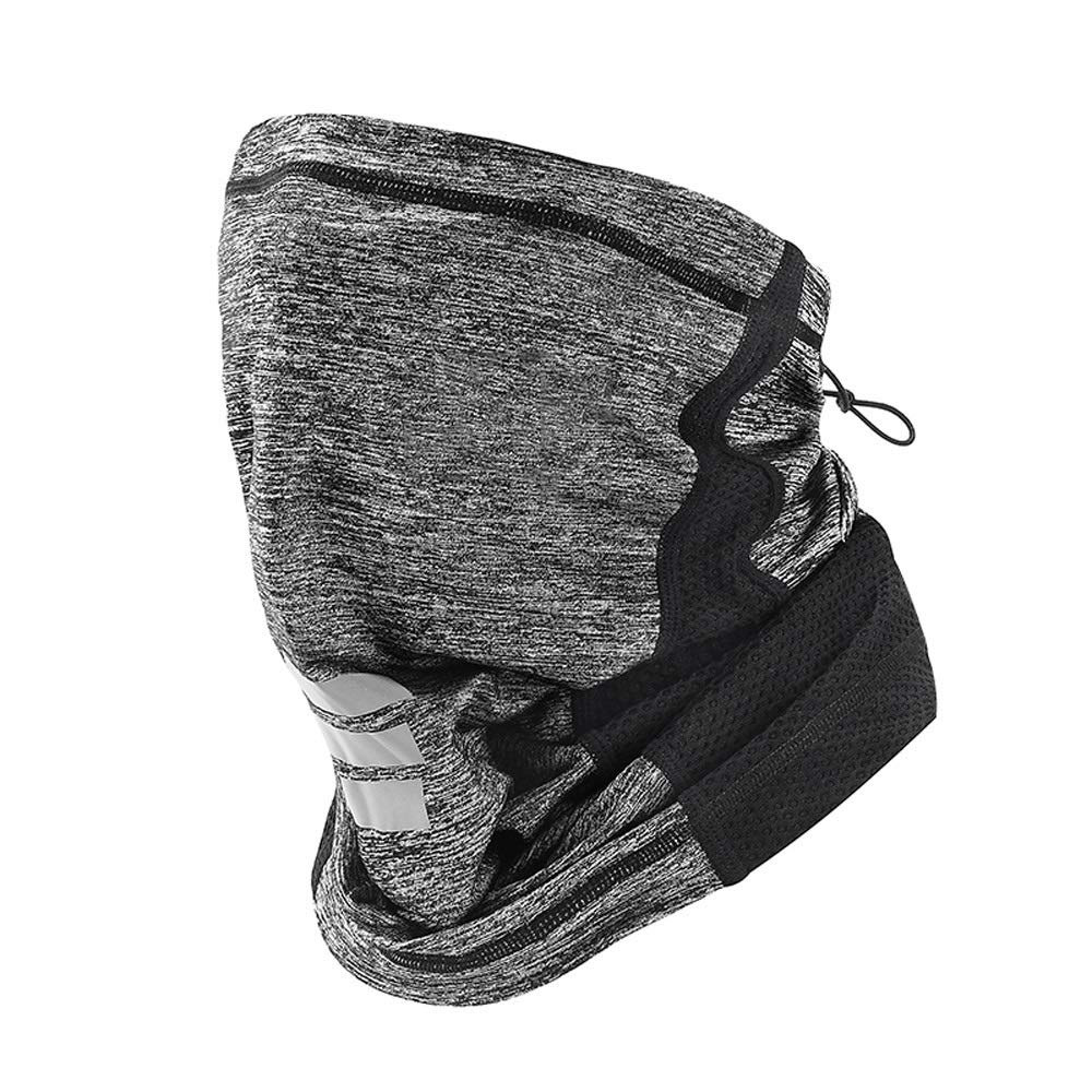 WSYHXMMask Sun Protection Visor Outdoor Riding Men and Women Ice Silk Full Face Fishing Anti-UV Windproof Sunscreen Sunscreen Mask Gini Outdoor Balaclava mask (Color : Gray)