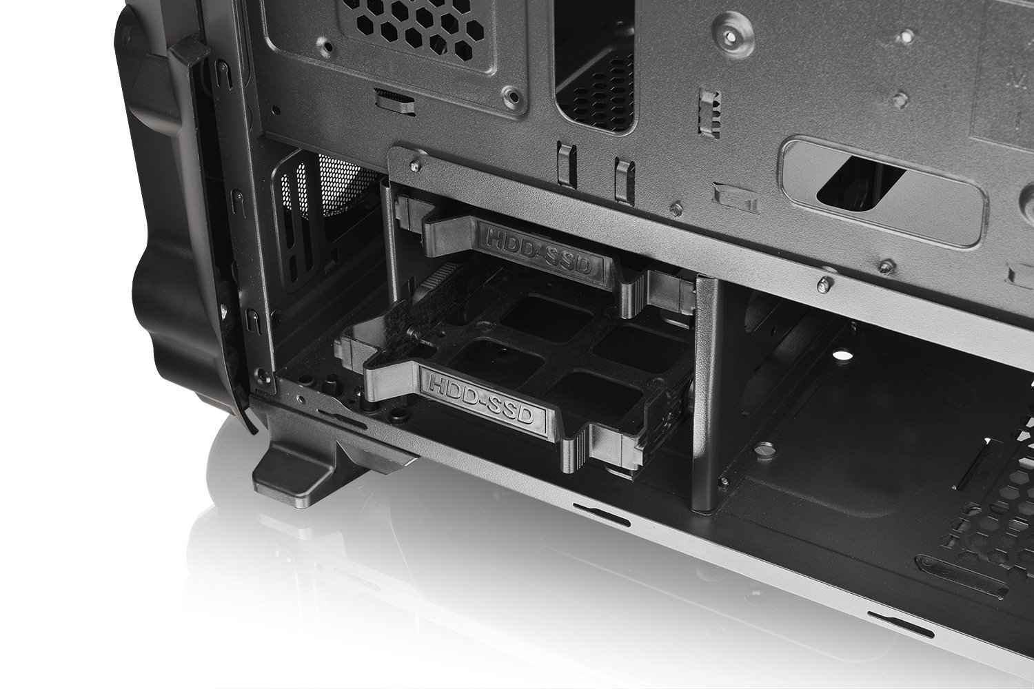 Thermaltake Versa N24 Black ATX Mid Tower Gaming Computer Case Chassis with Power Supply Cover, 120mm Rear Fan preinstalled. CA-1G1-00M1WN-00 by Thermaltake (Image #17)
