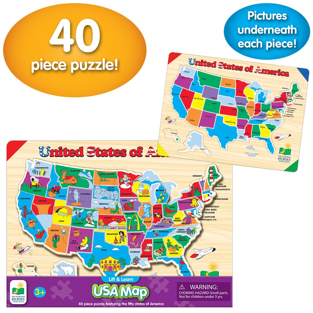 The Learning Journey Lift & Learn USA Map Puzzle - 501726 < Jigsaw ...
