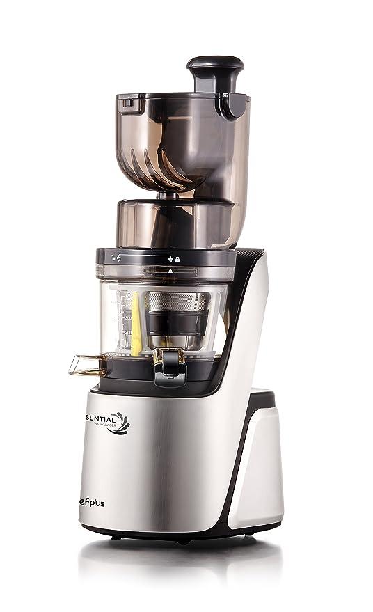 Essential Slow Juicer: Extractor de zumos, BPA Free, ultrasilencioso y con más potencia 400W