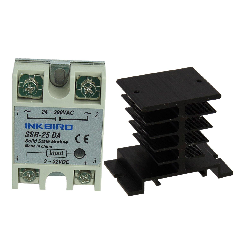 Inkbird Ssr Solid State Relay Heat Sink 25da Black Project Industrial Scientific