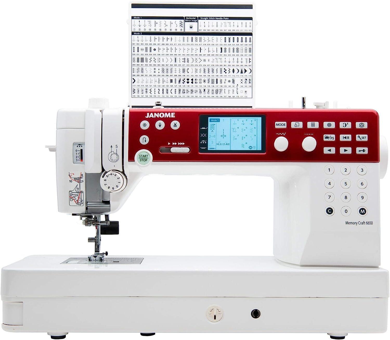 Janome MC6650 máquina de coser y acolchar con exclusivo paquete de ...