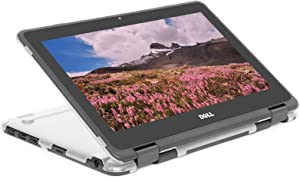 """mCover Hard Shell Case for 2019 11.6"""" Dell Chromebook 3100 2-in-1 Education (360-degree Hinge) Laptop (NOT Compatible with 3181 2in1, 210/3120/3180/3189/5190/3100 Series) - Dell-C3100-2in1 Clear"""