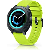 ANCOOL Compatible Gear Sport Band 20mm Silicone Watch Band Compatible Samsung Gear Sport/Gear S2 Classic R732/Galaxy Watch (42mm)/Ticwatch E/Ticwatch 2