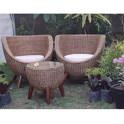 Amazon Com Antiqued Rattan Bubble Chair Home Kitchen