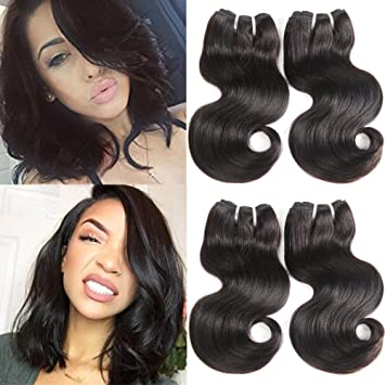 Amazon Com 10a Brazilian Hair 10 Inch Body Wave 4 Bundles Deals