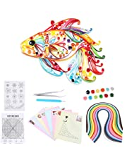 6 In 1 DIY Quilled Creation Paper Craft Quilling Tools Kit Collection For Decoration Educational Fun Christmas Present